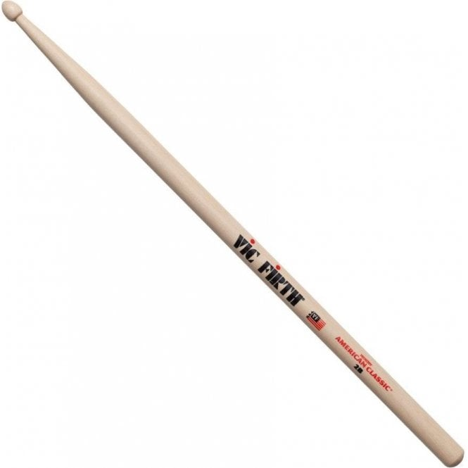Vic Firth Hickory 2B Wood Tip Drum Sticks (pair)