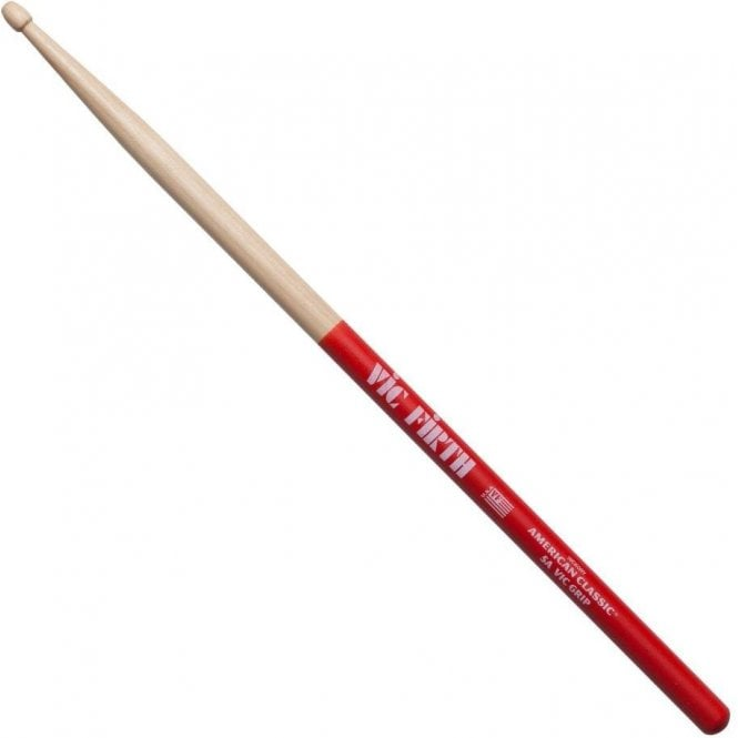 Vic Firth Hickory 5A GRIPPED Wood Tip Drum Sticks (pair)