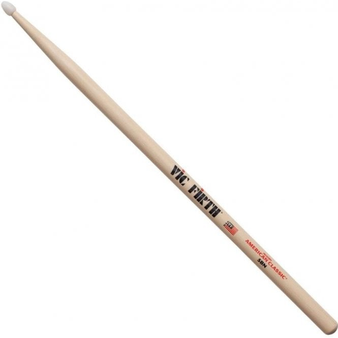 Vic Firth Hickory 5B Nylon Tip Drum Sticks (pair)