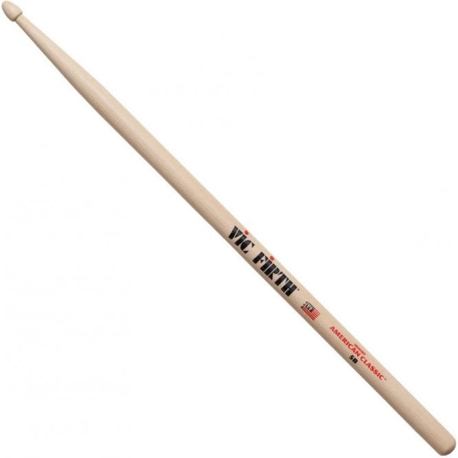 Vic Firth Hickory 5B Wood Tip Drum Sticks  (pair)