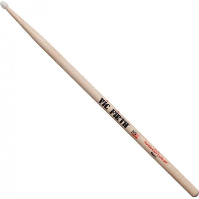 Vic Firth Hickory 8D Nylon Tip Drum Sticks (pair)