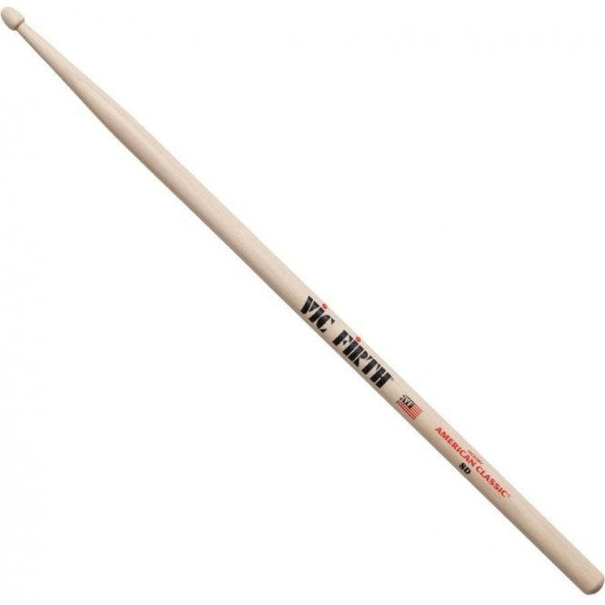 Vic Firth Hickory 8D Wood Tip Drum Sticks (pair)