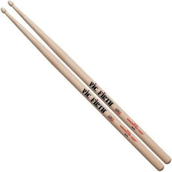 Vic Firth Hickory AJ1 American Jazz Wood Tip Drum Sticks (pair)