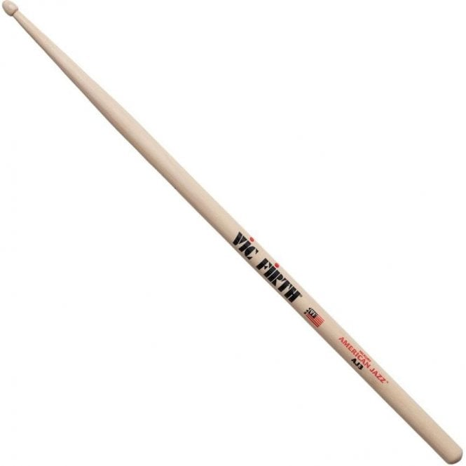 Vic Firth Hickory AJ3 American Jazz Wood Tip Drum Sticks (pair)