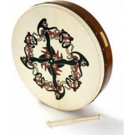 "Waltons Bodhran 18"" Clonmacnois with Book, Bag & Tipperg"