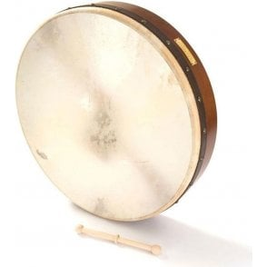 "Waltons Bodhran 18"" Plain with Book, Bag & Tipper"