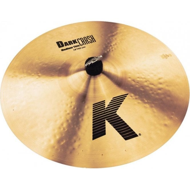 "Zildjian K 18"" Medium Thin Dark Crash Cymbal"